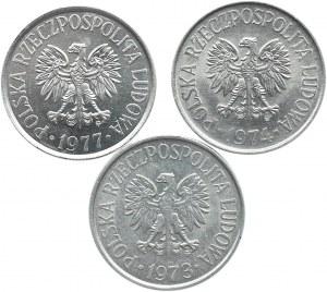 Polska, PRL, lot 50 groszy 1973-1977 Warszawa, UNC