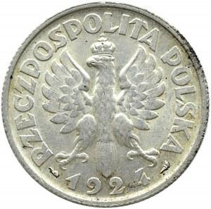 Polska, II RP, Kłosy, 2 złote 1924, Paryż, piękne!
