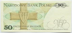 Polska, PRL, 50 złotych 1988, seria GN, częściowo widoczny nadruk główny