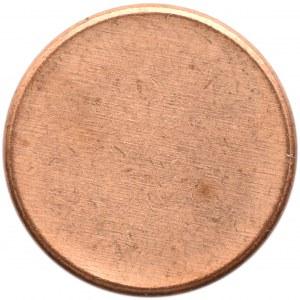 Czysty krążek na monetę, blank, średnica 19 mm, miedź