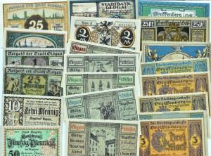 Śląsk, lot 28 notgeldów 1920, różne nominały
