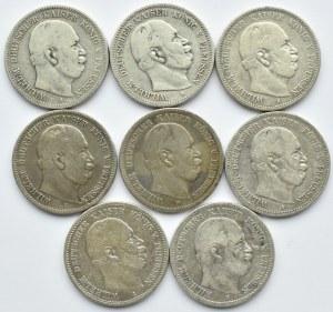 Niemcy, Prusy, Wilhelm I, lot 2 marki 1876 A/B/C, Berlin/Hannower/Frankfurt