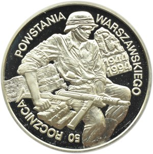Polska, III RP, 100000 złotych 1994, 50 rocznica Powstania Warszawskiego, UNC
