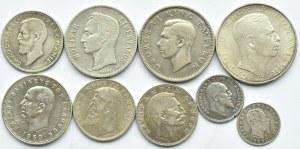 Europa/Świat lot srebrnych monet, 9 sztuk