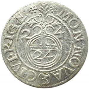 Okupacja szwedzka, Gustaw II Adolf, półtorak 1624, Ryga, ładny