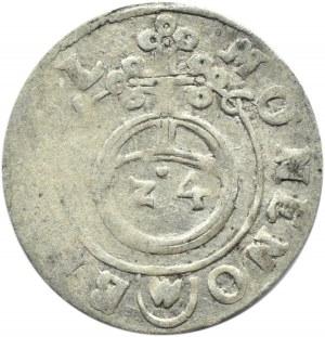 Zygmunt III Waza, półtorak 1616, Adwaniec, Bydgoszcz, data na okręgu