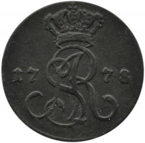 Stanisław A. Poniatowski, grosz 1778 EB, Warszawa