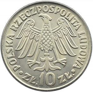 Polska, PRL, 10 złotych 1964, Kazimierz Wielki, wklęsły, Warszawa, UNC