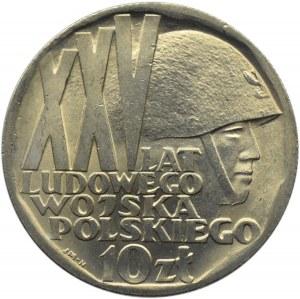 Polska, PRL, XXV lat Ludowego Wojska, 10 złotych 1968, Warszawa, UNC