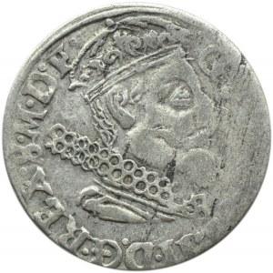 Okupacja szwedzka, Gustaw II Adolf, trojak 1632, Elblag, (R2)