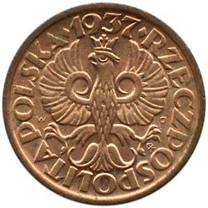 Polska, II RP, 1 grosz 1937, Warszawa, UNC