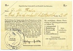 Niemcy, Pomoc zimowa dla narodu niemieckiego, 5 marek 1942/43, seria B