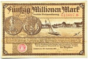 Zoppot, Sopot, 50 milionów marek 1923, bardzo rzadki