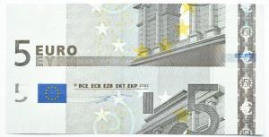 Niemcy/EU, 5 euro 2002, destrukt - źle cięty, Rzadkość