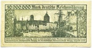 Wolne Miasto Gdańsk, 10 milionów marek 1923, bez oznaczenia serii, niski numer