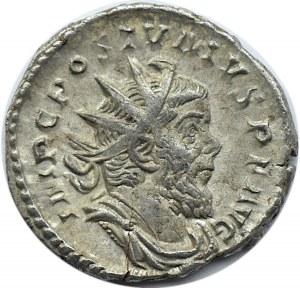 Cesarstwo Rzymskie, Postumus (260-269), antoninian bilonowy, Trier, RIC 64