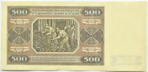 Polska, RP, 500 złotych 1948, seria CA, stan I/I-
