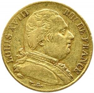 Francja, Karol X, 20 franków 1815 A, Paryż