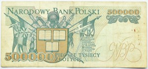 Polska, 500000 złotych 1993, seria B, Warszawa