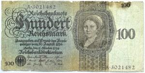 Niemcy, Republika Weimarska, 100 marek 1924, seria A/F, rzadkie