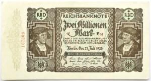 Niemcy, Republika Weimarska, 2000000 marek 1923, bez oznaczenia serii