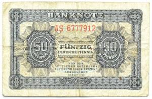 Niemcy, NRD, 50 pfennig 1948, seria AS