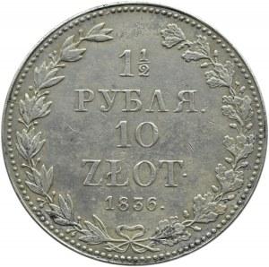 Mikołaj I, 1 1/2 rubla/10 złotych 1836, Warszawa, mała data