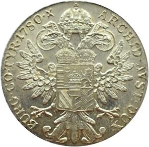 Austria, Maria Teresa, talar 1780, nowe bicie, menniczy egzemplarz