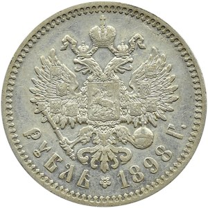 Rosja, Mikołaj II, 1 rubel 1898 *, Paryż