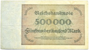 Niemcy, Republika Weimarska, 500000 marek 1923, rzadka seria G