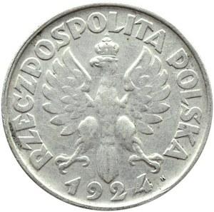 Polska, II RP, 2 złote 1924 H, Birmingham, rzadkie