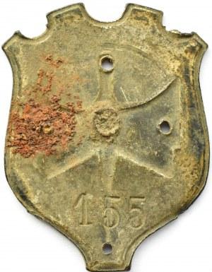 Polska, II RP, tarcza odznaki 18 DP – sygnowana numerem 155