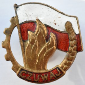 Polska, PRL, Lata 50-te, Odznaka harcerska Czuwaj,
