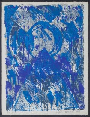 Bogdan KORCZOWSKI (ur. 1954), Bez tytułu [Niebieska kompozycja], 1988
