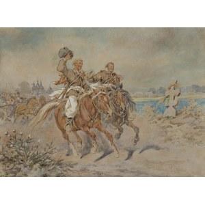 Kossak Juliusz, DRUŻBOWIE NA WESELU UKRAIŃSKIM, 1892