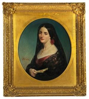 MN (I poł XIX w.), Portret kobiety w stroju hiszpańskim