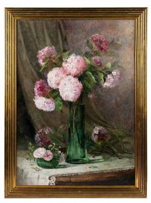 Paula Font (1882-?), Hortensje w zielonym wazonie