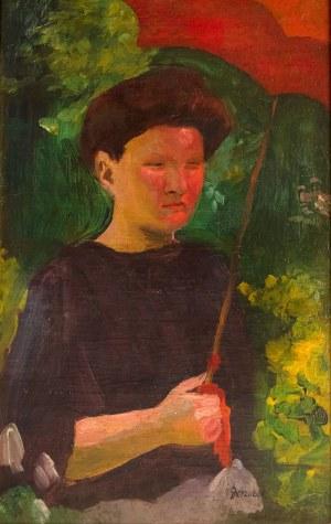 Adam Gerżabek (1898-1965), Dziewczyna z parasolką