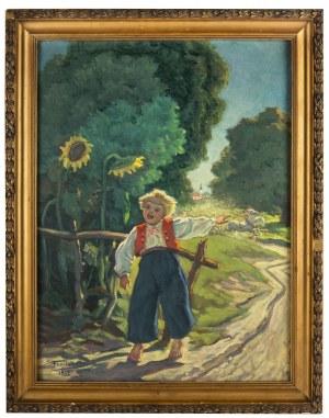 Stanisław Frasiak (1897-1950), W słoneczny dzień jedzie wesele, 1932 r.