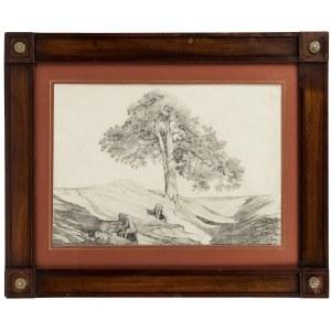 Maksymilian Oborski (1809-1878), Samotne drzewo, 1871 r.