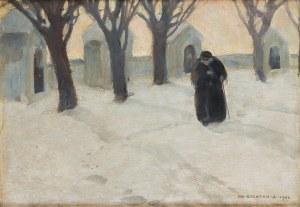 Bronisława Rychter-Janowska (1868 Kraków - 1953 tamże), Kapliczki w śniegu, 1908 r.