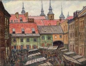 Wacław Stanisław Granzow (1887 Warszawa-1949 Kraków), Szeroki Dunaj na Starym Mieście w Warszawie