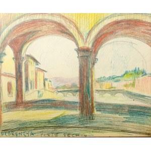 Stanisław Kamocki (1875 Warszawa - 1944 Zakopane), Florencja - Ponte Vecchio