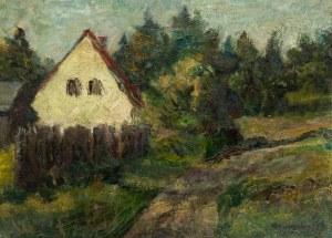 Szymon Szumiński (1936 Opalenica koło Poznania - 1986 Toruń), Pejzaż z Rydzewa, 1957 r.