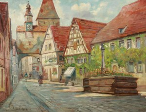 Malarz nierozpoznany (XIX/XX w.), Wieża Marcusa w Rothenburgu