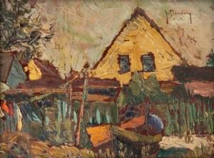 Grzegorz Mendoly-Stefanoff (1898 – 1966), Pejzaż z łódką