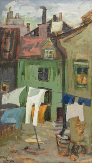 Jerzy Luczak-Szewczyk (1922 Lublin - 1974 Szwecja), Podwórko miejskie