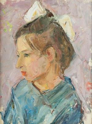Romuald Smorczewski (1901 Warszawa-1962), Portret dziewczynki z kokardą