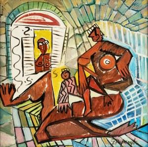Józef Popczyk (1890-1971), Kompozycja z trzema postaciami