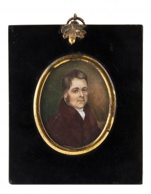 Miniatura - portret mężczyzny, k. XIX w.